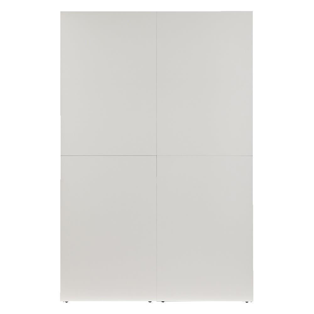 お手軽間仕切り パネル収納ハンガーラック 板タイプ ハンガー1段棚1枚 幅120cm (ア)ホワイト(裏:間仕切り面)