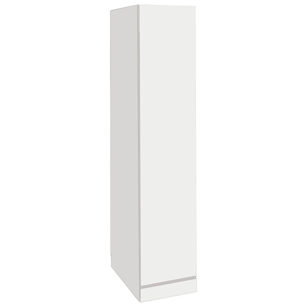 【日本製】シンプルスタイルワードローブ 幅39cm(右開き)奥行56cmタイプ (イ)前板:ホワイト・本体:ホワイト