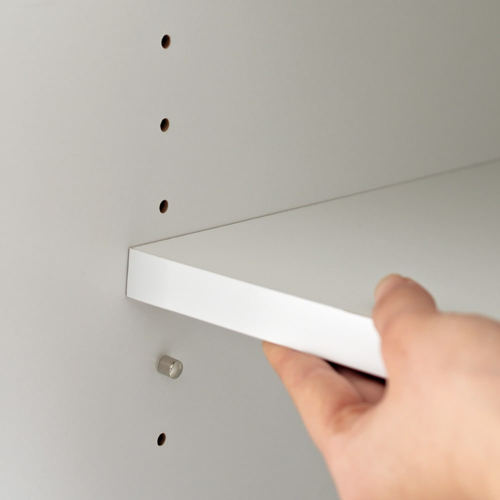 【日本製】シンプルスタイルワードローブ 棚 幅39cm(左開き)奥行56cmタイプ 棚板は3cm間隔で高さ調節可能。