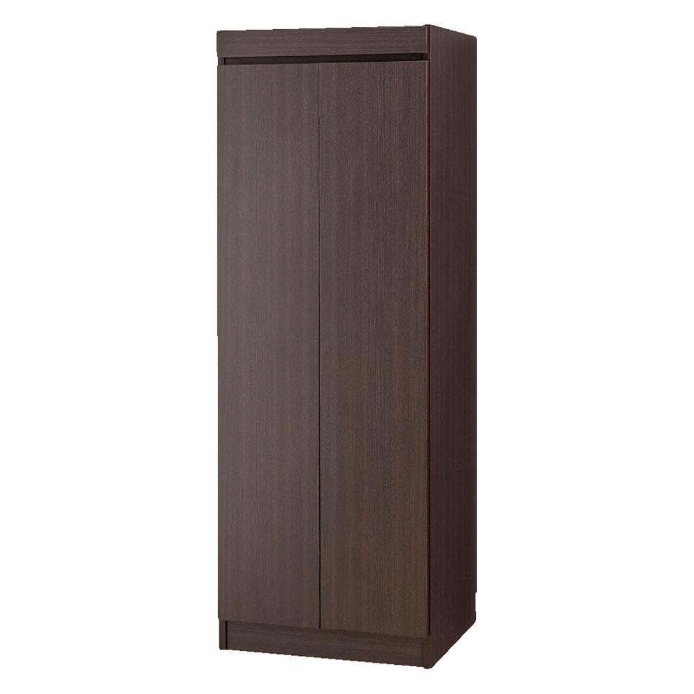必要な時だけ引き出せるちょいかけハンガー付きクローゼット 棚7段 幅80cm (イ)ダークブラウン ※写真は幅60cmタイプです。