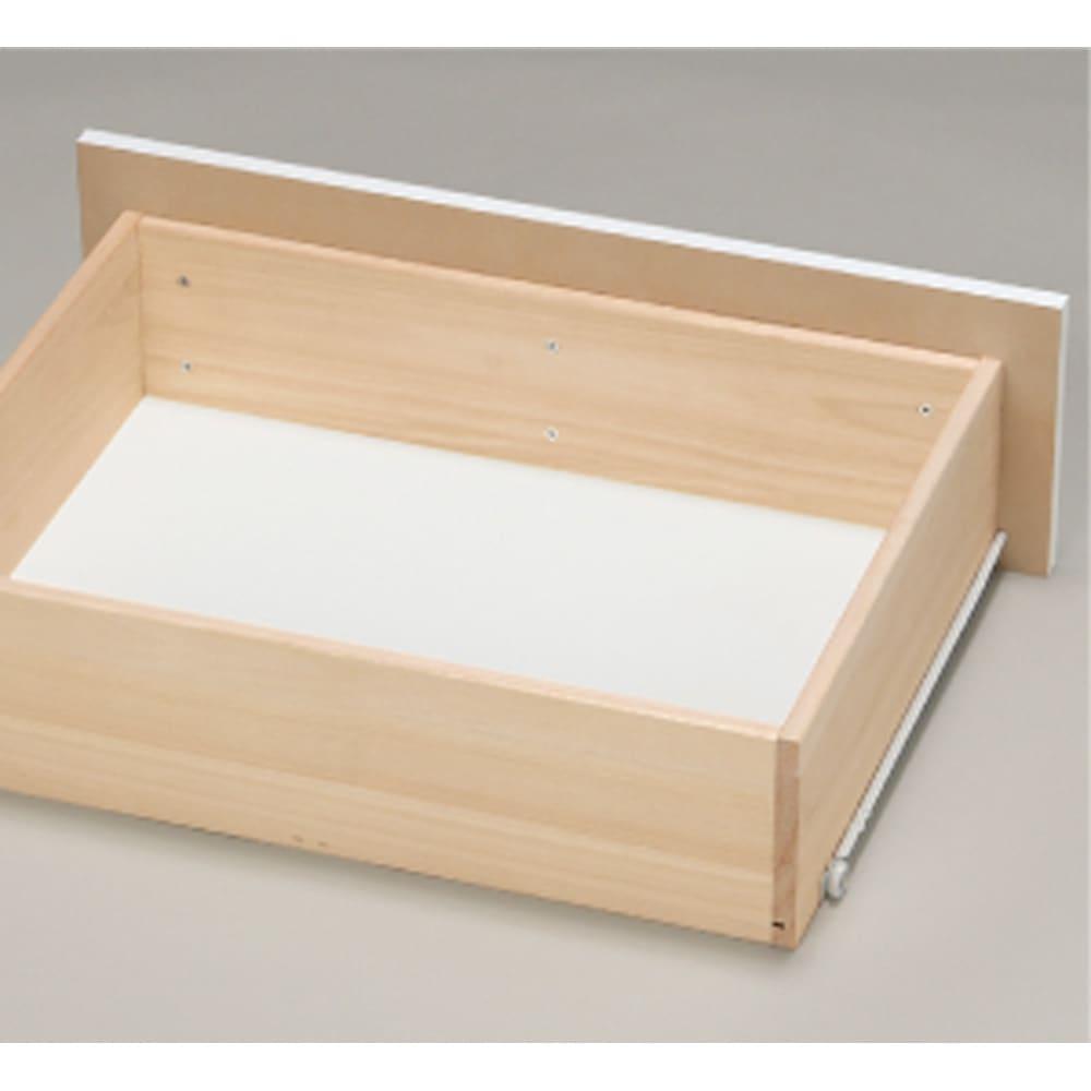 奥行30cm薄型ツヤツヤチェスト 幅100cm・4段 頑丈な箱組。さらにネジなどの金具が内部に出っ張らない衣類に優しいつくり。