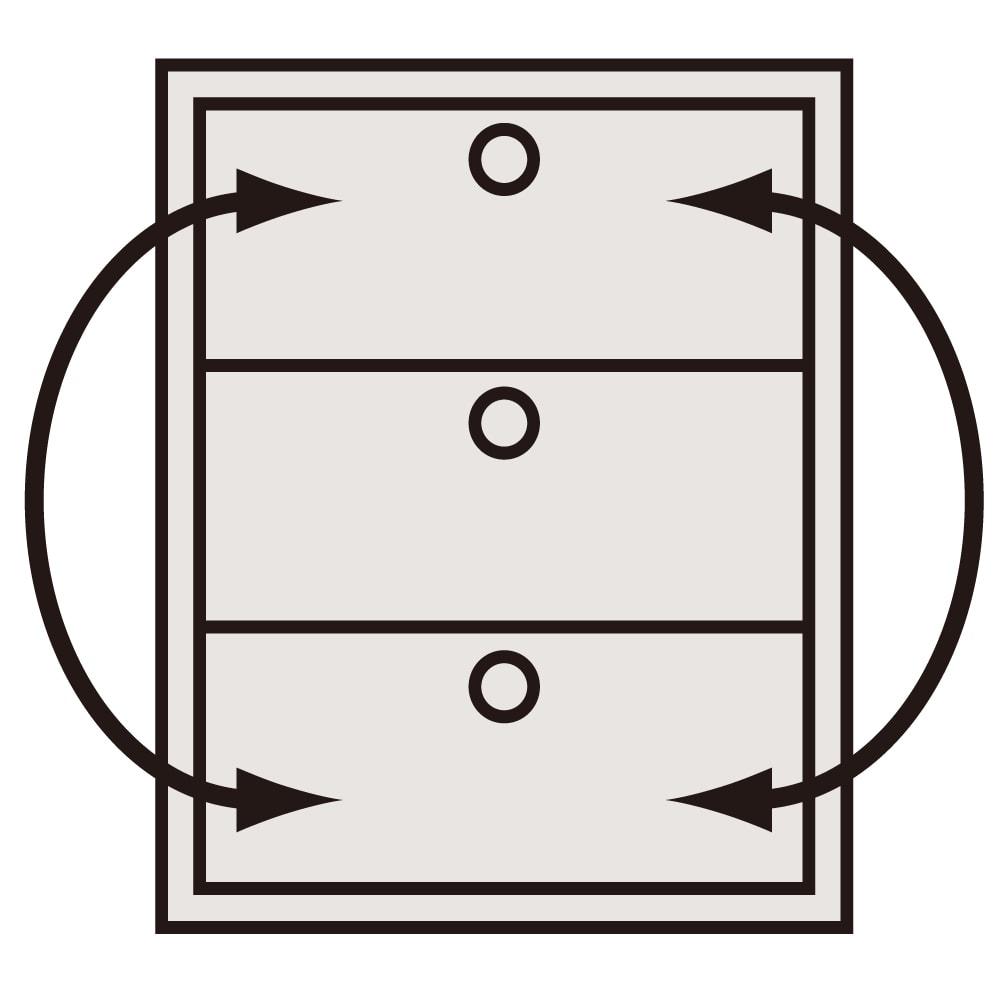 【日本製】奥行50cm隠しキャスター付きクローゼットチェスト 幅100cm・4段 引き出し入替OK 小引き出しを除く。
