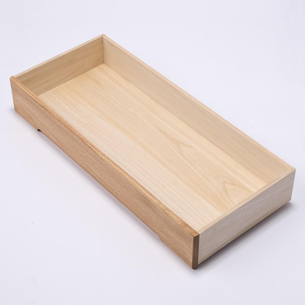 自分仕様に造れる 総桐ユニット箪笥 衣類収納箪笥5段 引出内部もすべて桐材を使用しております。