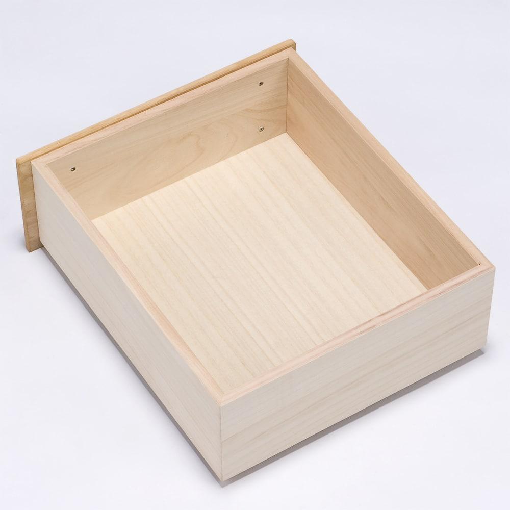 【日本製】北欧風総桐チェスト 幅100cm・3段(5杯) 小引き出しも箱組でしっかり仕様なのでたっぷり収納できます。