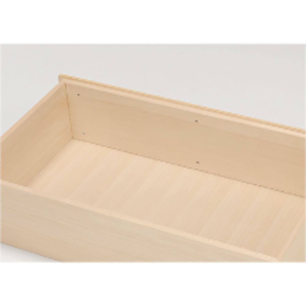 【日本製】北欧風総桐チェスト 幅100cm・3段(5杯) 頑丈な箱組。さらにネジなどの金具が内部に出っ張らない衣類に優しいつくり。