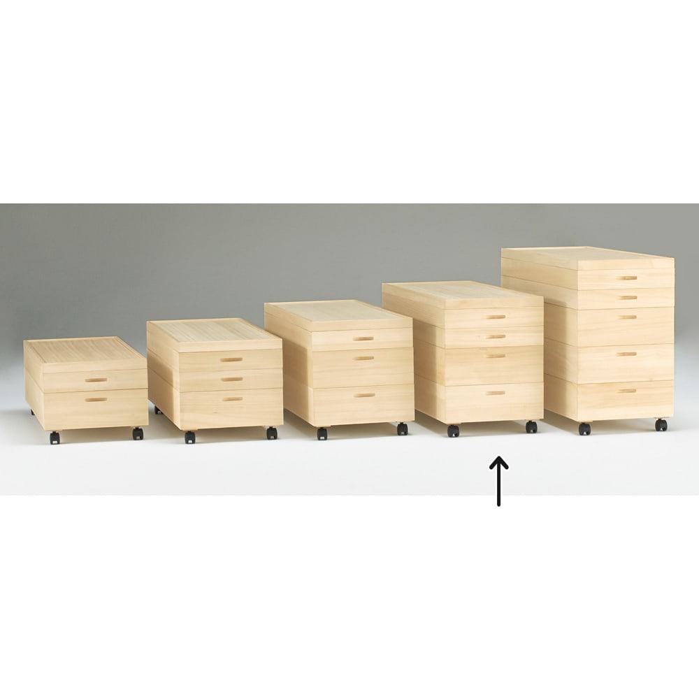 総桐衣装ケース 幅91cmタイプ 4段(浅2深2) 浅・深の組み合わせは分類収納に便利!
