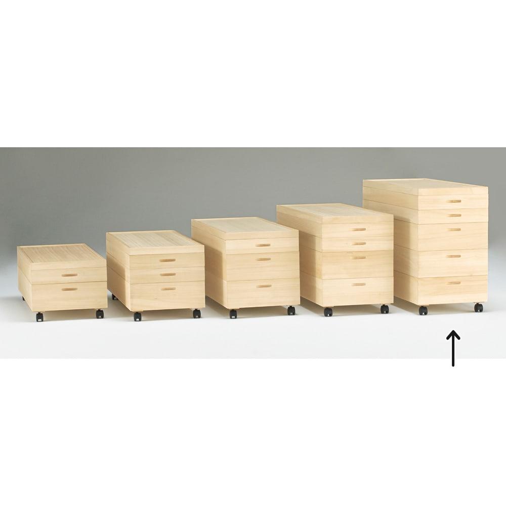 総桐衣装ケース 幅91cmタイプ 5段(浅2深3) 浅・深の組み合わせは分類収納に便利!