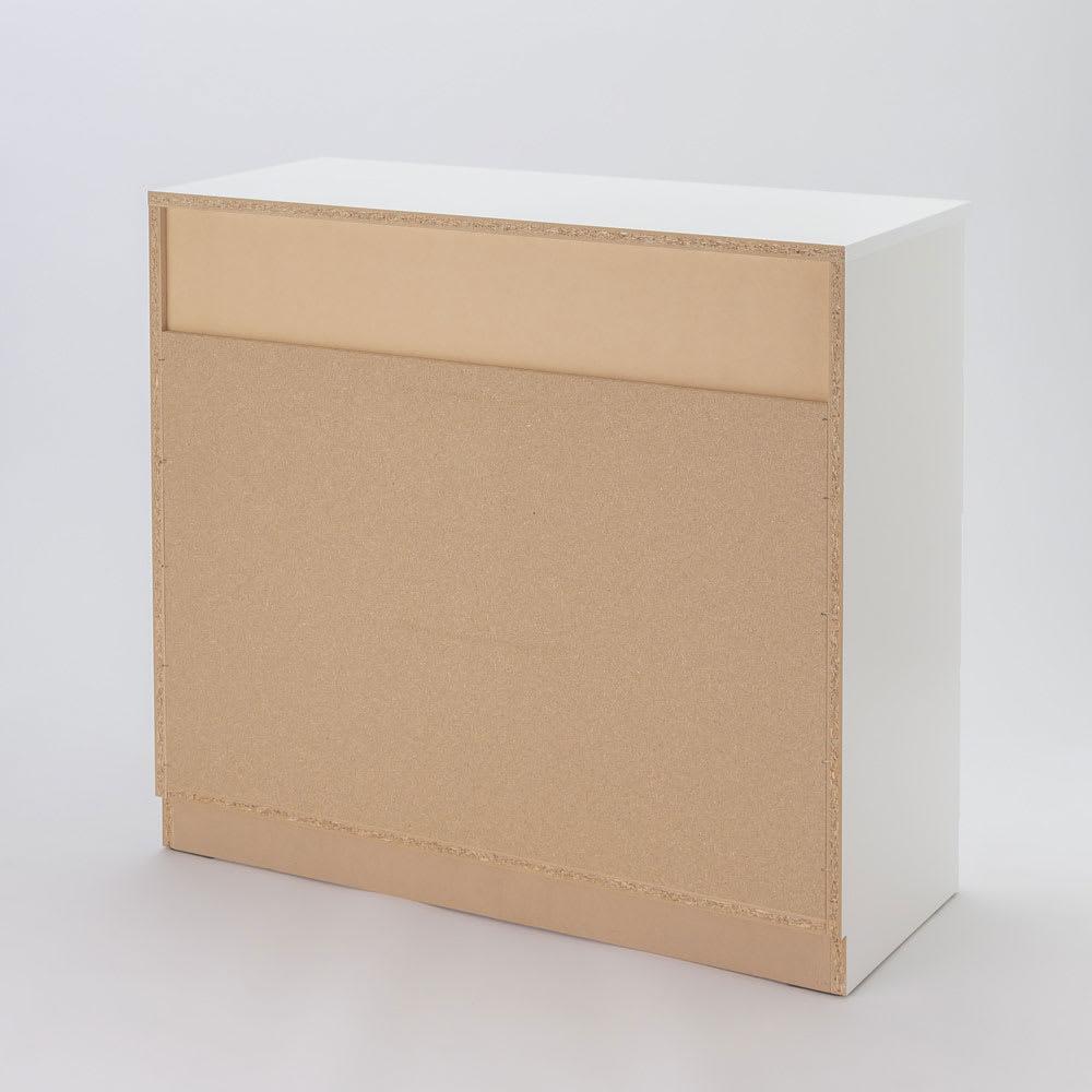 ぴったりサイズが見つかるフルスライドレールチェスト 4段 高さ89.5cm・幅70cm (イ)ホワイト 裏面。 ※写真は4段タイプ・高さ89.5cm・幅100cmです。