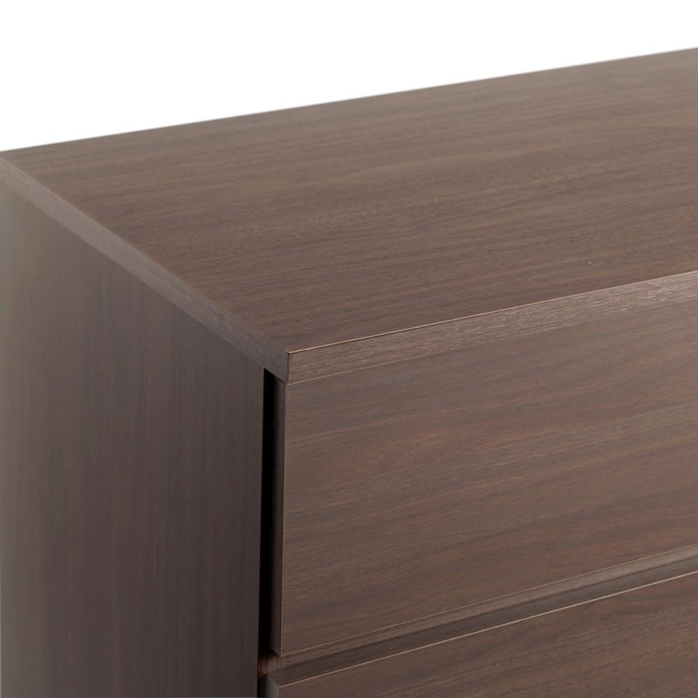 ぴったりサイズが見つかるフルスライドレールチェスト 4段 高さ89.5cm・幅70cm (ア)ブラウン