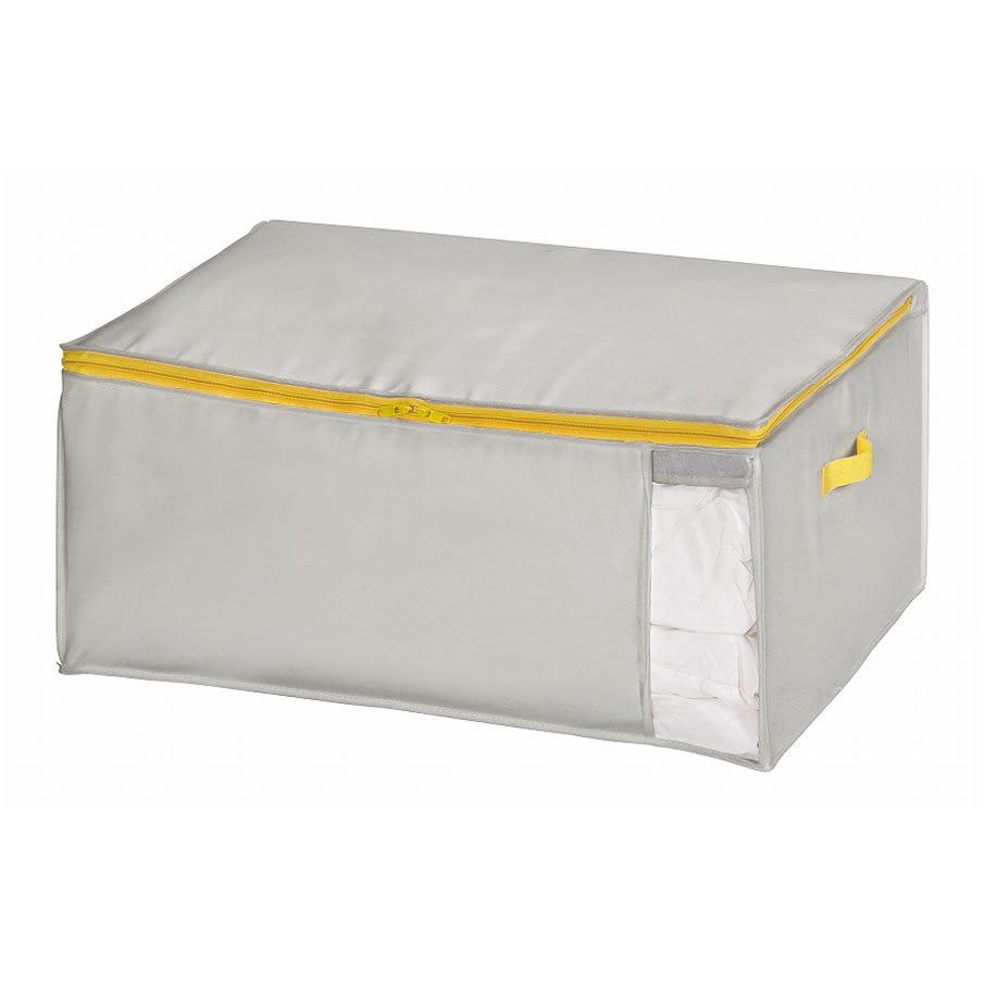 コンパクトにスッキリ納まる布団収納袋 M・同色2個組 (イ)グレー