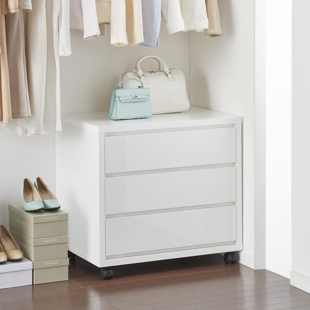 家具 収納 衣類収納 押入収納 クローゼット収納 奥行を最大限活かせる大量収納チェスト クローゼットタイプ・奥行54cm 2段・高さ52cm 幅60cm 555951