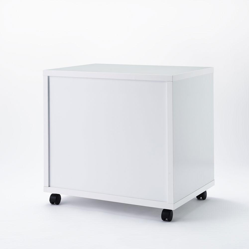 奥行を最大限活かせる大量収納チェスト クローゼットタイプ・奥行54cm 2段・高さ52cm 幅75cm (ウ)ホワイト 裏面化粧仕上げ。 ※写真はクローゼットタイプ奥行54cm・3段高さ71cm・幅75cmです。