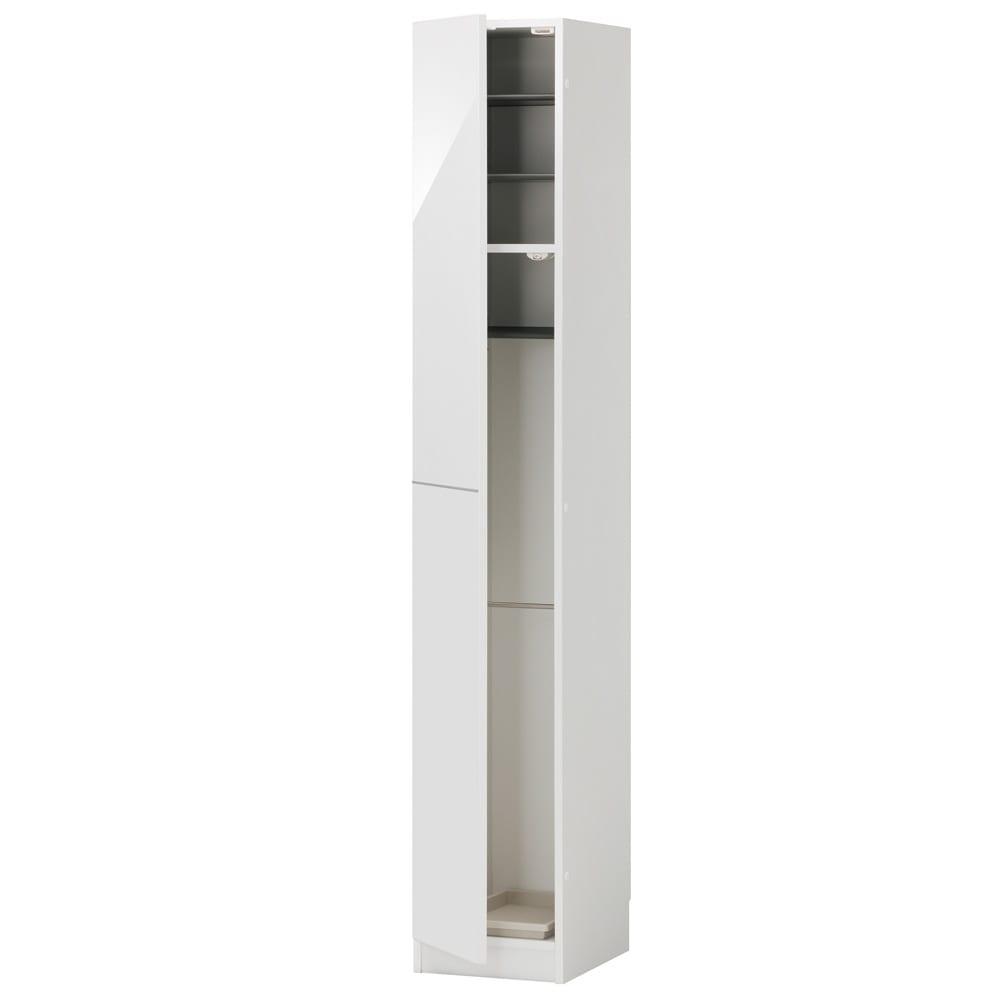 インテリアに合わせて8色&13タイプから選べるシューズボックス 傘 長尺収納(左開き) 幅30高さ180.5cm (ア)ホワイト