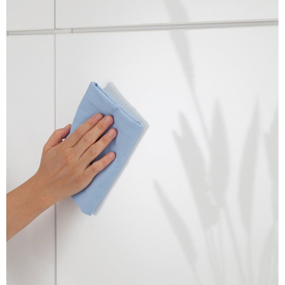 インテリアに合わせて8色&13タイプから選べるシューズボックス 傘 長尺収納(左開き) 幅30高さ180.5cm (ア)ホワイトは汚れが付きにくい仕上げでお手入れ簡単。