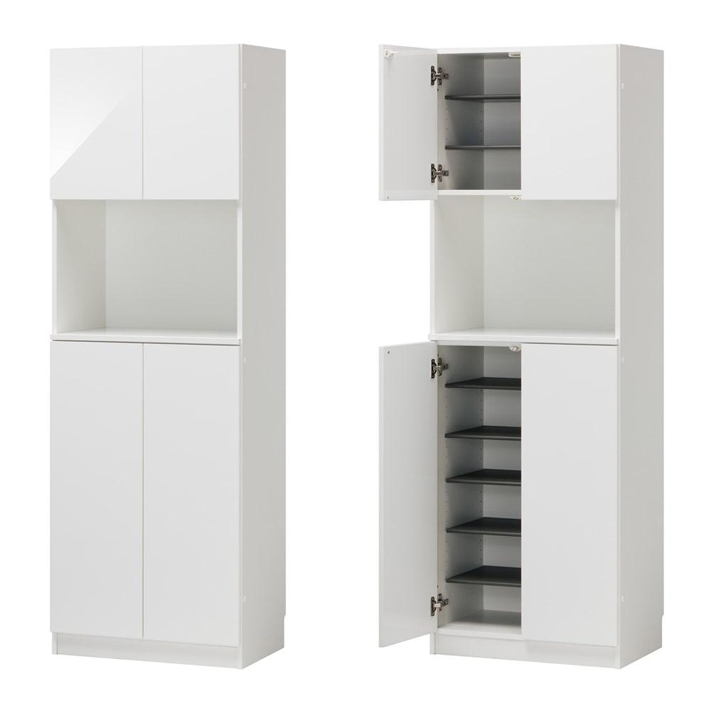 インテリアに合わせて8色&13タイプから選べるシューズボックス オープン 幅60高さ180.5cm (ア)ホワイト