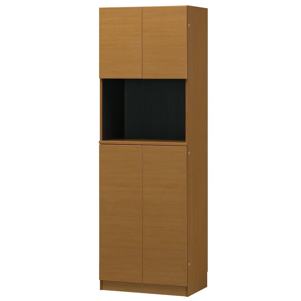 インテリアに合わせて8色&13タイプから選べるシューズボックス オープン 幅60高さ180.5cm (オ)ミディアムオーク木目