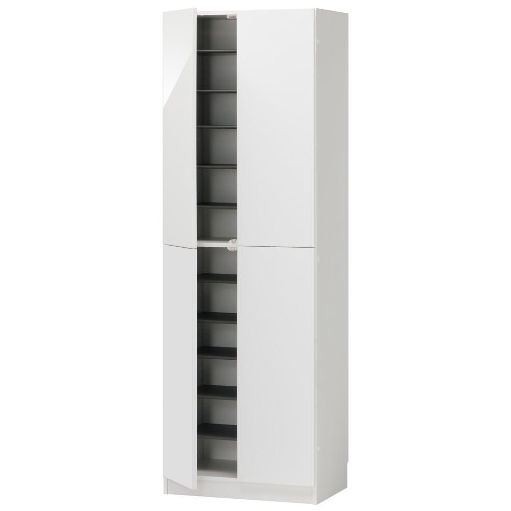 インテリアに合わせて8色&13タイプから選べるシューズボックス 扉 幅60高さ180.5cm (ア)ホワイト