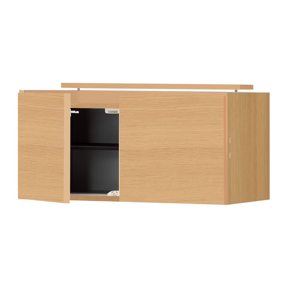 インテリアに合わせて8色&13タイプから選べるシューズボックス 上置き(右開き) 幅30cm高さ30~80cm 色見本(ウ)ライトアッシュ木目