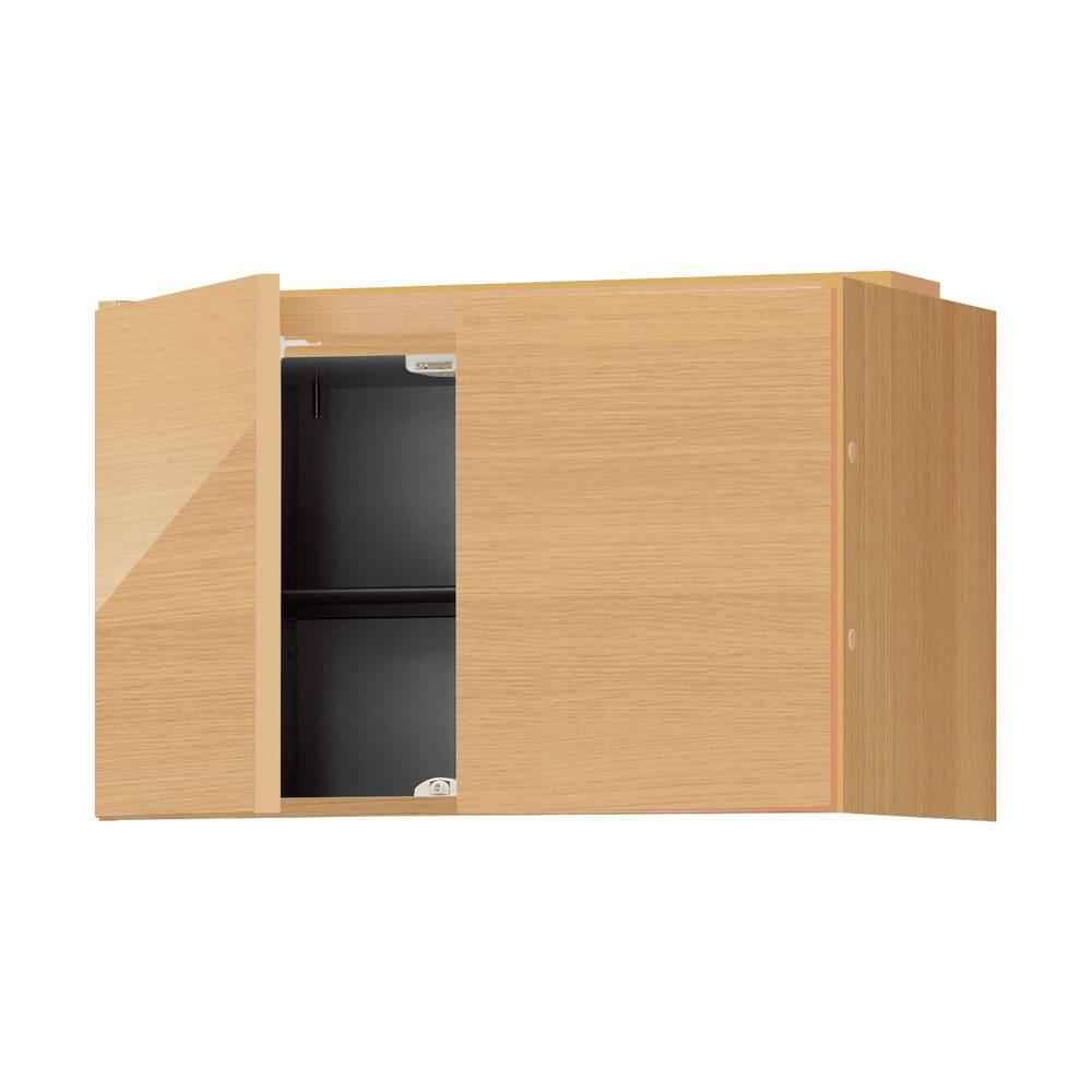 インテリアに合わせて8色&13タイプから選べるシューズボックス 上置き(左開き) 幅30cm高さ30~80cm 色見本(ウ)ライトアッシュ木目