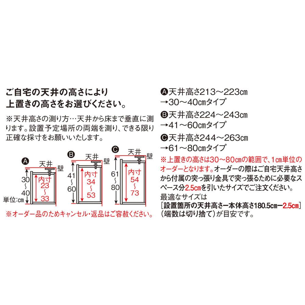 インテリアに合わせて8色&13タイプから選べるシューズボックス 上置き 幅75高さ30~80cm 【オーダーPoint】