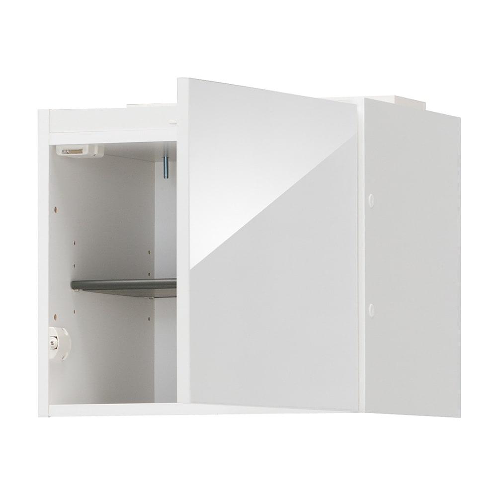インテリアに合わせて8色&13タイプから選べるシューズボックス 上置き(右開き) 幅45cm高さ30~80cm (ア)ホワイト