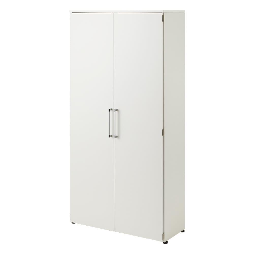 棚板たっぷり大容量シューズボックス 幅90cm (イ)ホワイト