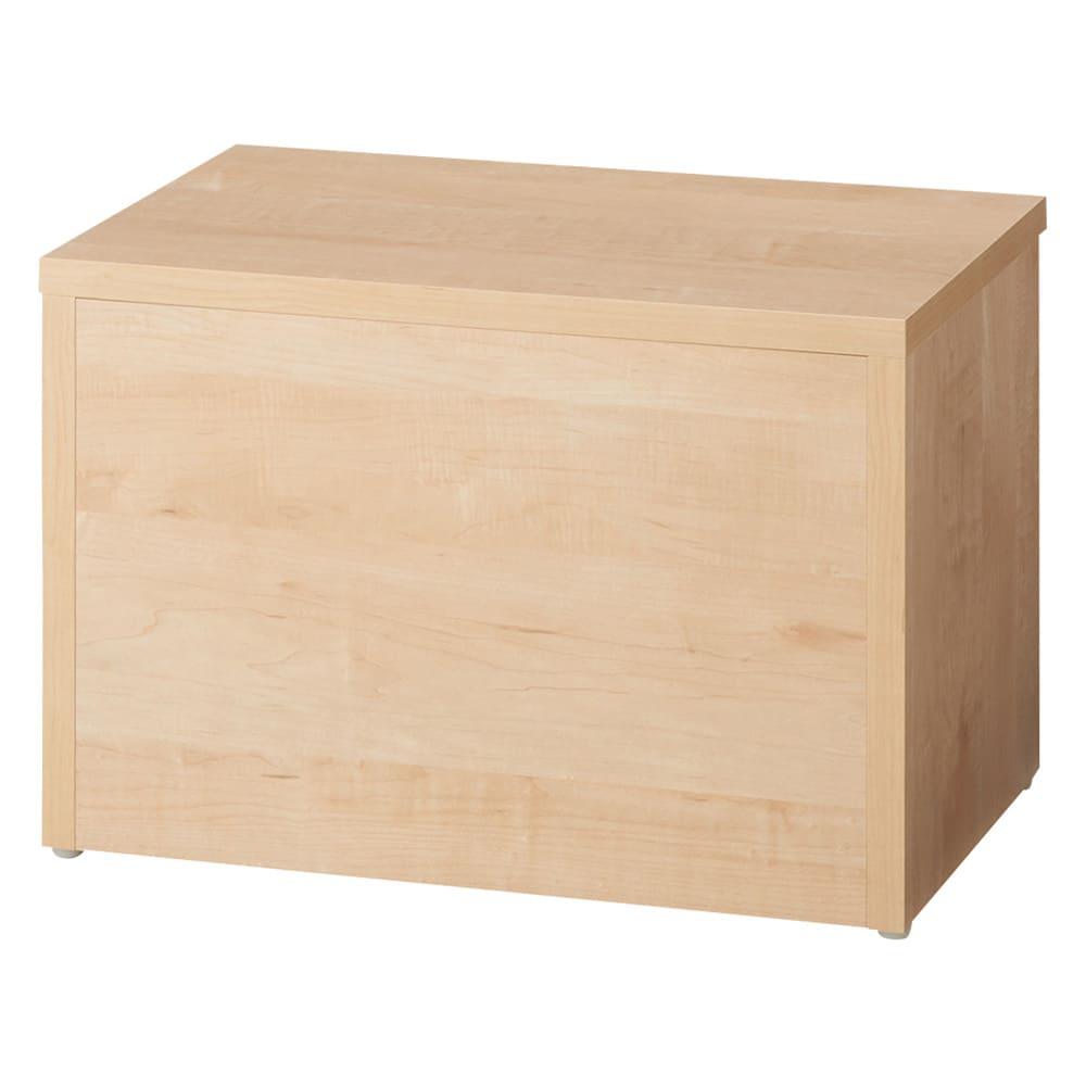 耐荷重100kg!収納庫付ベンチ ボックス・幅60奥行41cm (ア)ナチュラル 背面も美しく化粧しております。