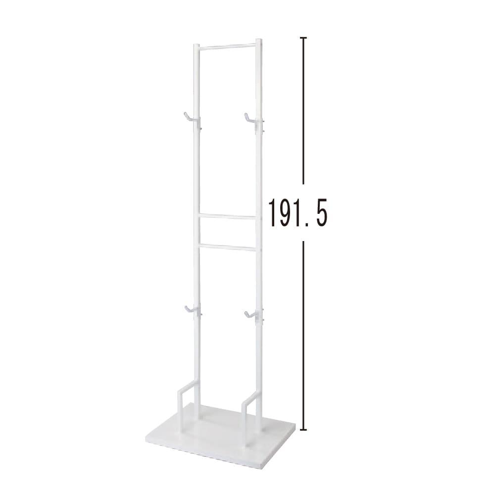 室内で使える ディスプレイサイクルスタンド 2台掛け (イ)ホワイト(単位:cm)