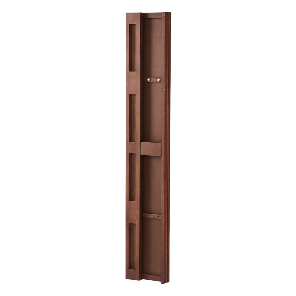壁掛けなのに角度が変えられる 玄関ミラー (姿見) 幅20cm・高さ120cm (イ)ブラウン 裏側