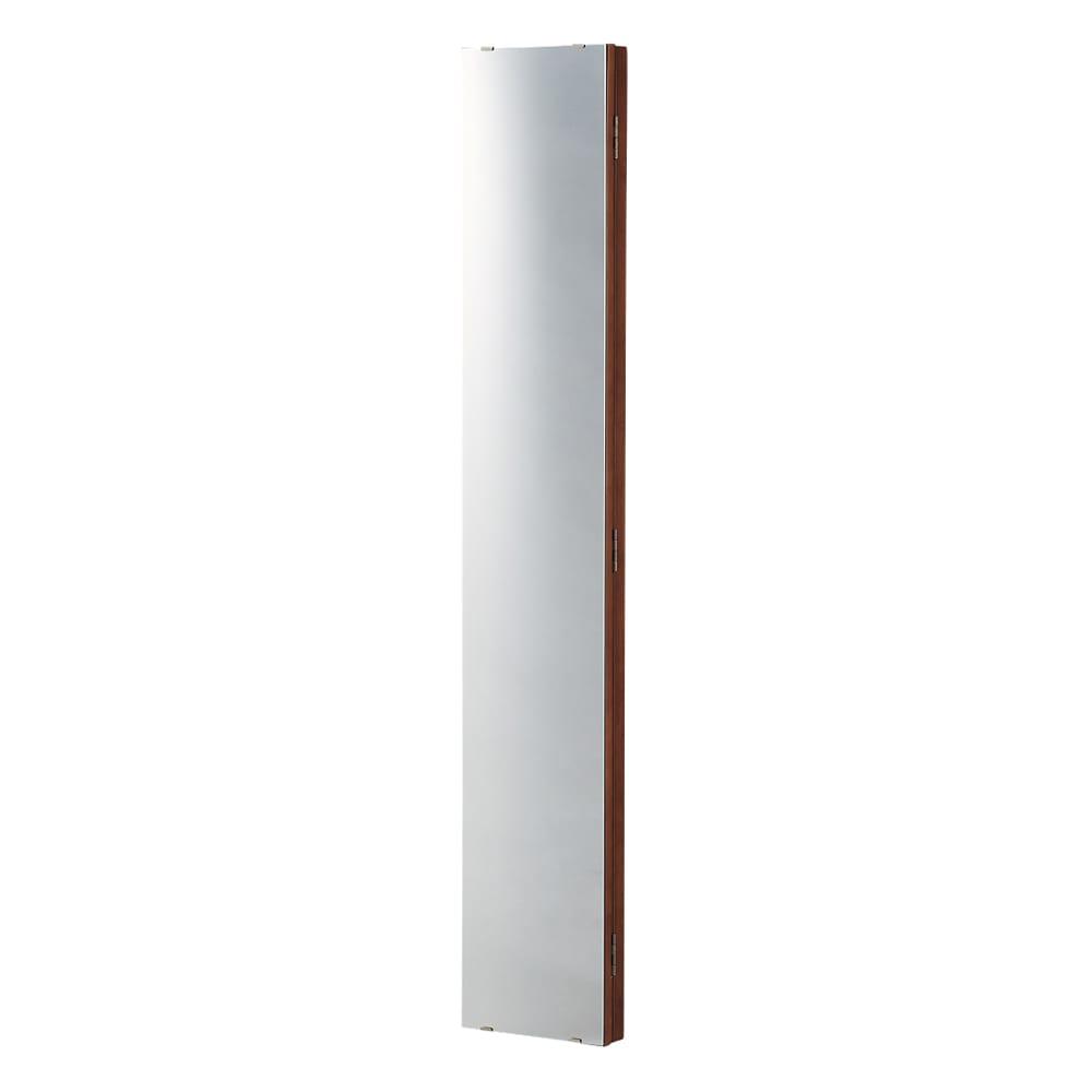 壁掛けなのに角度が変えられる 玄関ミラー (姿見) 幅20cm・高さ120cm (イ)ブラウン