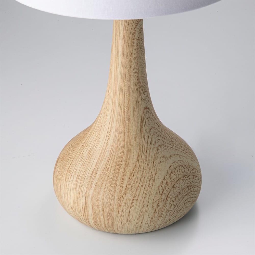 タッチセンサー付き木目調テーブルランプ (ア)ナチュラル