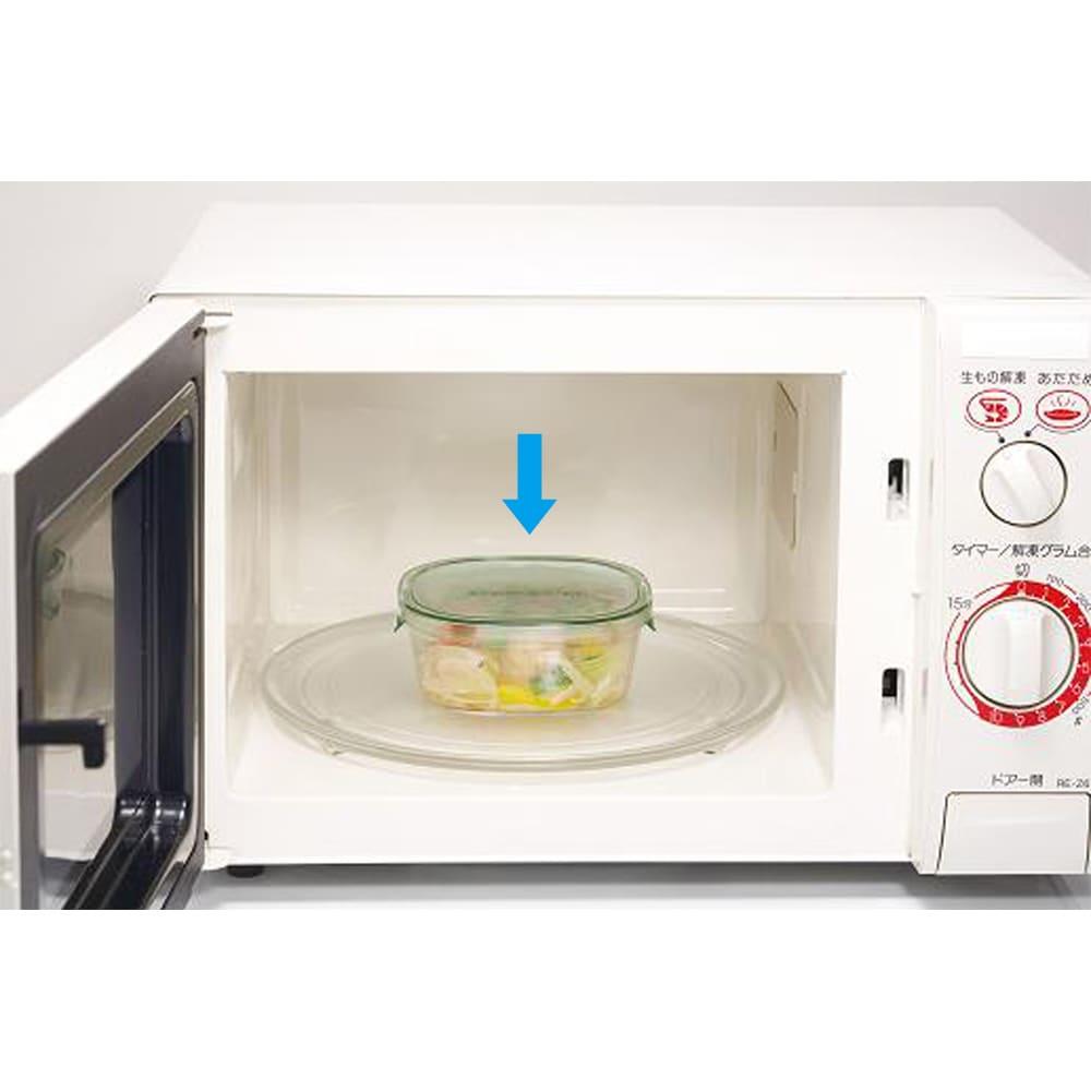 イワキ 耐熱ガラスパック&レンジシステム 7点セット (イ)グリーン 電子レンジもOK