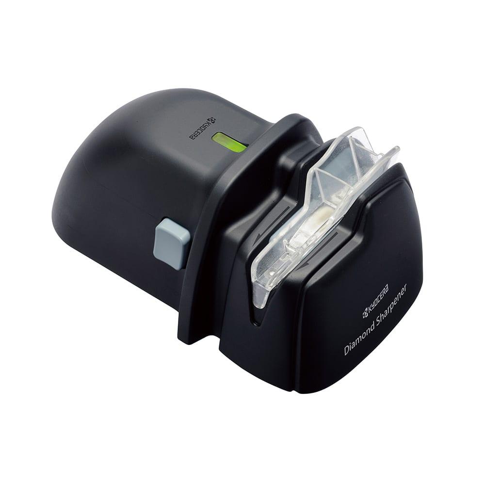 京セラ 電動ダイヤモンドシャープナー(包丁研ぎ) 包丁研ぎに必要な電池残量がなくなると、ランプが消えてお知らせします。
