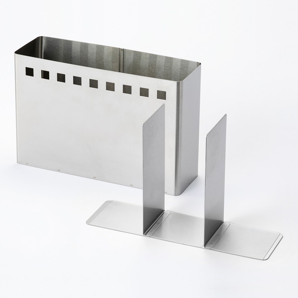キッチンツールスタンド 底と本体は分解できるので丸洗い可能。