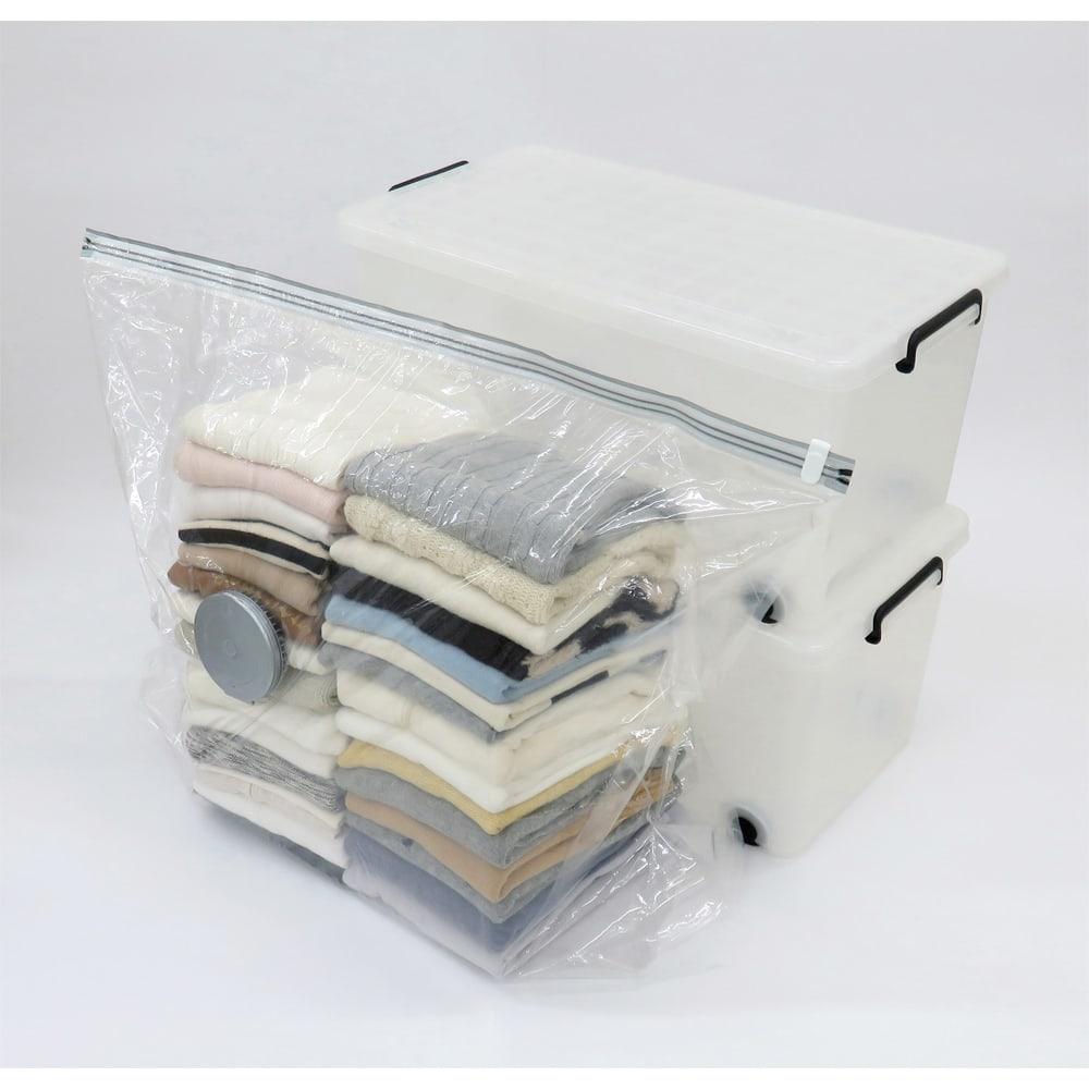 スティック掃除機対応圧縮袋5枚組 イメージ:圧縮前