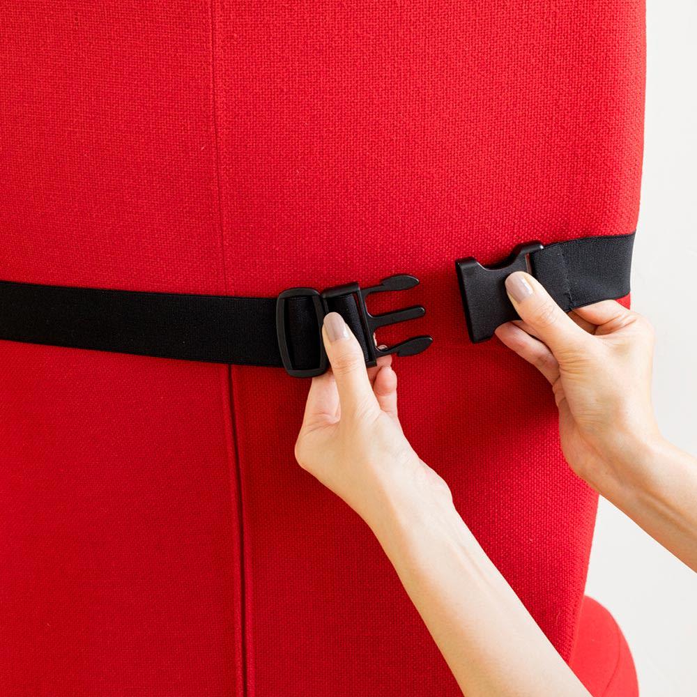 テクノジェル(R)ランバーサポート 伸縮ベルトで簡単取り付け!