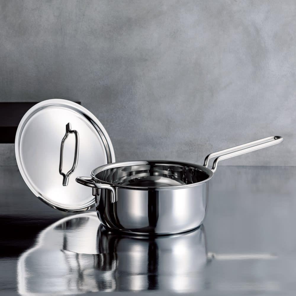 キッチン 家電 鍋 調理器具 土鍋 IH対応 服部先生のステンレス7層構造鍋「ジオ」 片手鍋径18cm 541813