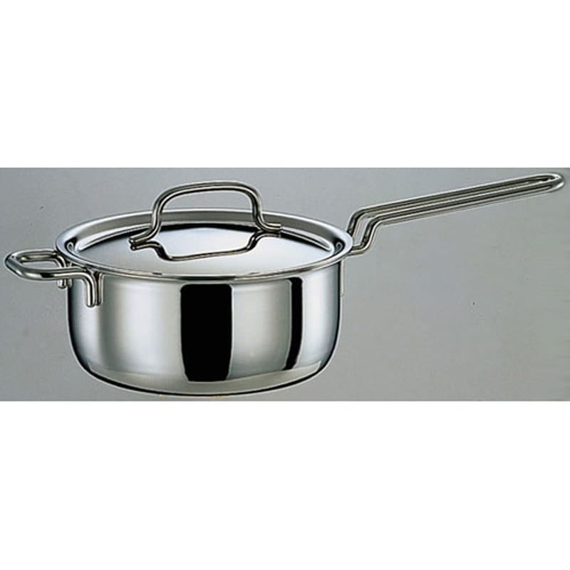 GEO IH対応 服部先生のステンレス7層構造鍋「ジオ」 片手鍋径20cm シルバー 鍋・土鍋