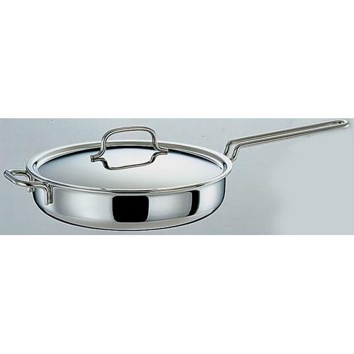 キッチン 家電 鍋 調理器具 フライパン IH対応 服部先生のステンレス7層構造鍋「ジオ」 ソテーパン径25cm 541819