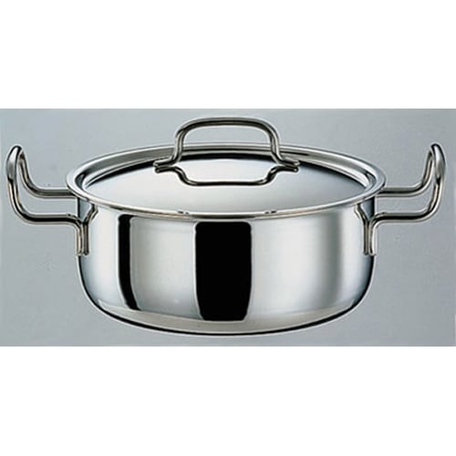 IH対応 服部先生のステンレス7層構造鍋「ジオ」 両手鍋径25cm 541834