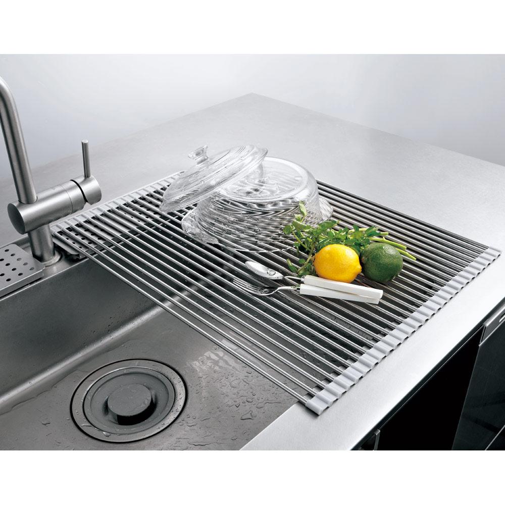 キッチン 家電 キッチン収納 水切り 水切りかご ラック ステンレス製たためる水切り レギュラー 奥行52cm 542210