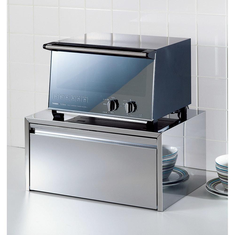 キッチン 家電 キッチン収納 水切り キッチン小物収納 トースターラック ステンレスタイプ 奥行25cm 542320