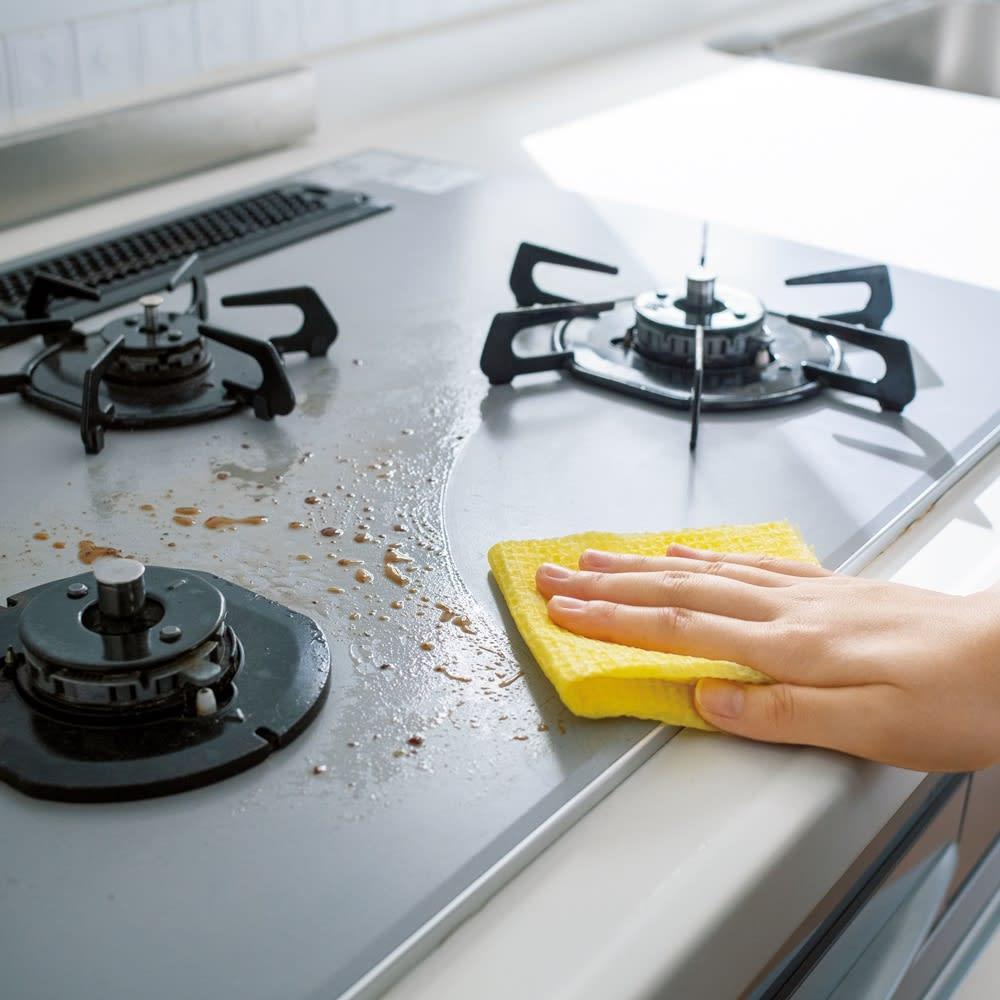 頑固な汚れもよく落ちる!使い捨て・抗菌加工クリーニングタオル3本組 「油はねに」 「鍋の汚れに」 「洗面台に 」「五徳掃除に」 「シンクに」 「浴室に」
