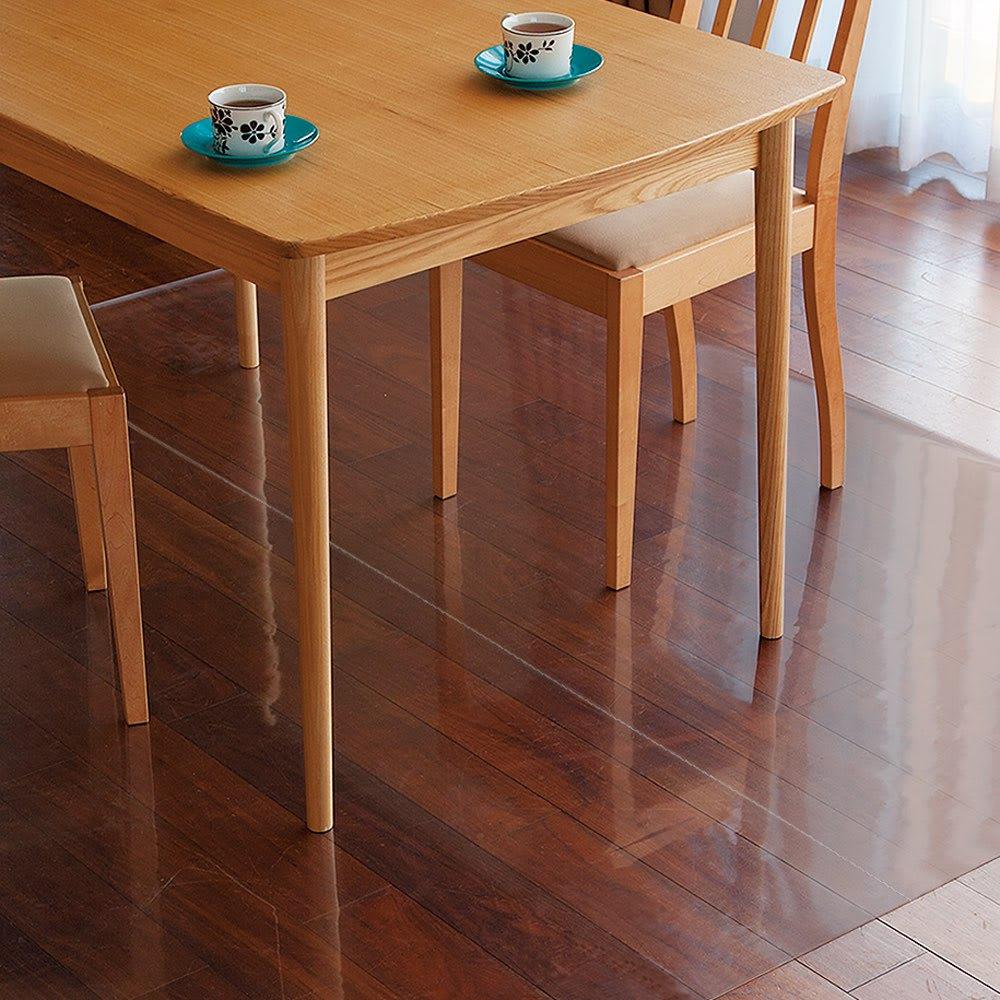 アキレス透明ダイニングテーブル下マット Neo 90×150cm フロアマット・デスクマット