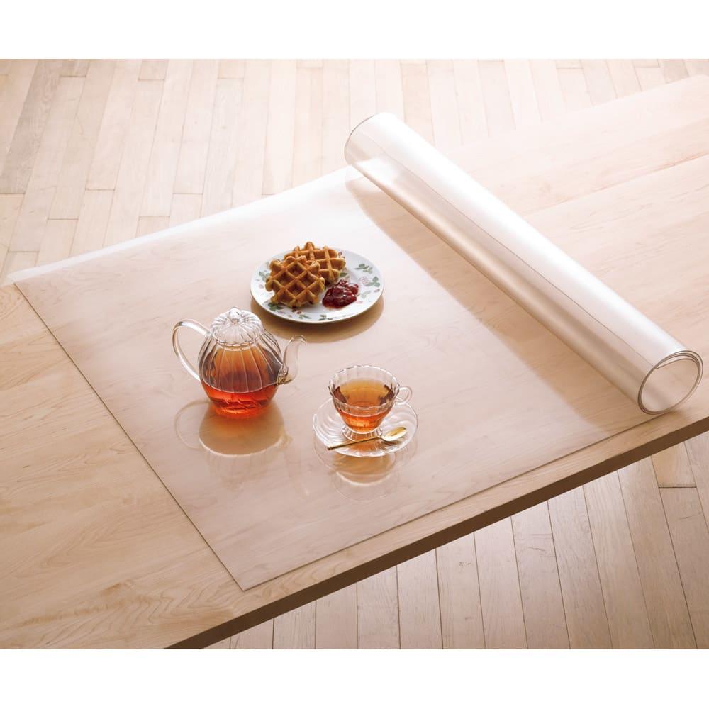 アキレス高機能テーブルマット 約90×90cm クリア ランチョンマット・テーブルマット