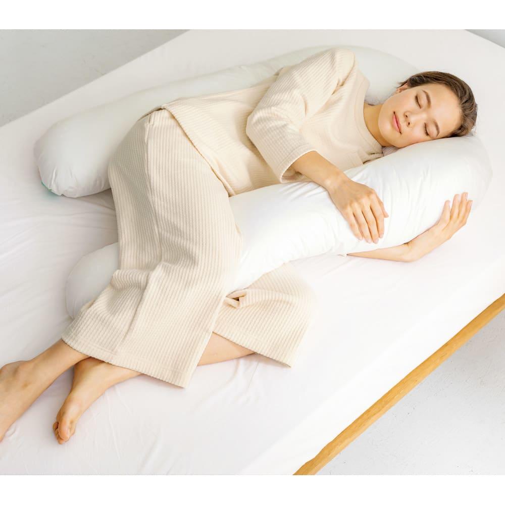 ベッド 寝具 布団 枕 抱き枕 フォスフレイクス枕 コンフォートU 枕のみ 545092