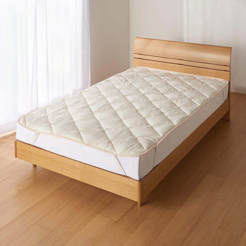 ベッド 寝具 布団 毛布 ベッドパッド 敷きパッド セミダブルロング(あったか洗える清潔寝具 ふんわり敷きパッド) 545161