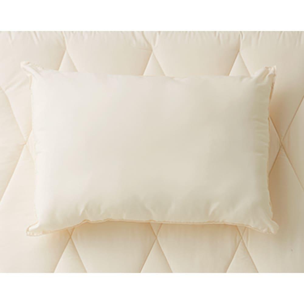 あったか洗える清潔寝具 洗える枕(普通判) お届けは枕になります。下の敷布団は同シリーズの敷布団になります。