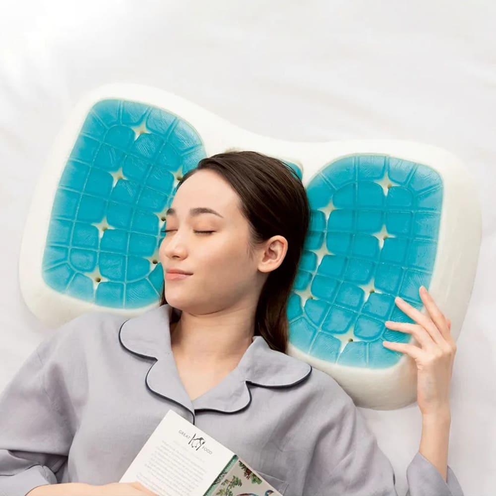 テクノジェル(R) Back & Side ピロー 枕単品 (ア)低め(5~7.5cm) ※イメージのため側カバーと中袋を取り外して撮影しています。