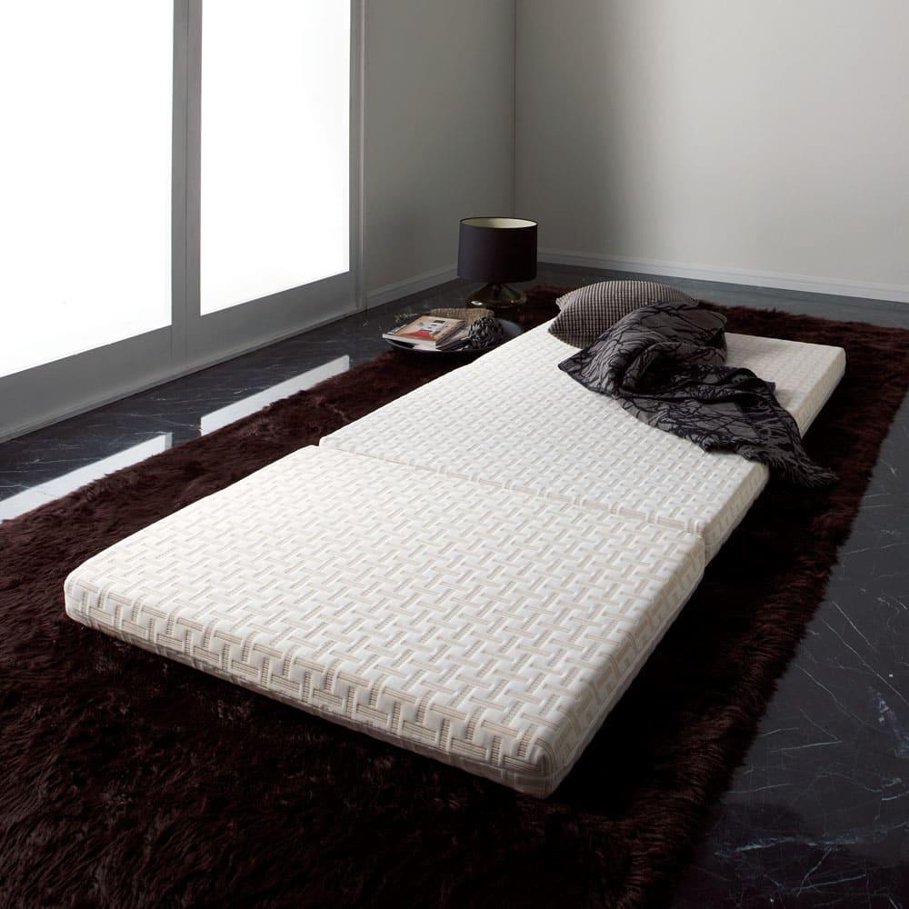 ベッド 寝具 布団 毛布 敷布団 Afitマットレスシリーズ 3つ折り敷布団 セミダブル 546007
